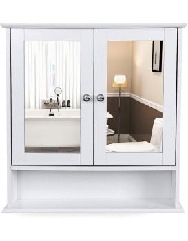 Koupelnová skříňka se zrcadlem FREYA bílá