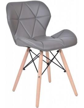 Čalúnená stolička MURET - sivá