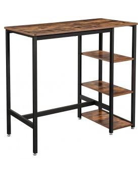 Barový stůl VASAGLE Moa hnědý