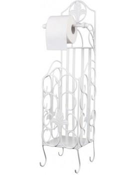 Stojan na toaletní papír s nádobou bílý