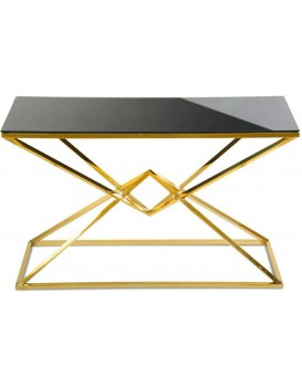 Konzolový stůl Diamont zlato-černý