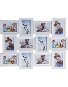 Fotorámček na stenu 12 fotografií – 10x15 cm biely