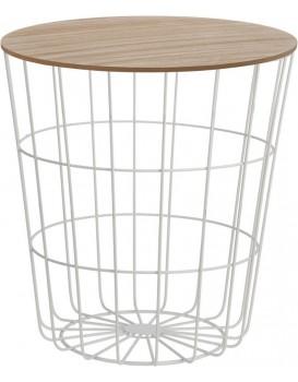 Drôtený konferenčný stôl Vidin 42 cm biely