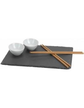 Servírovací sada na sushi šedá