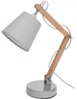 Stolní lampa s šedým stínidlem 45 cm