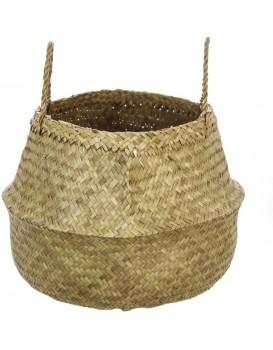 Košík z přírodní mořské trávy 40cm hnědý