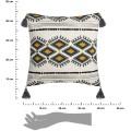 Bavlnený povlak na vankúš Aztec 40x40 cm biely