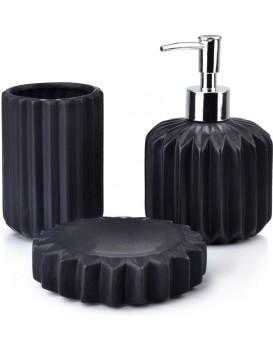 Sada kúpeľňových doplnkov Ferra čierna