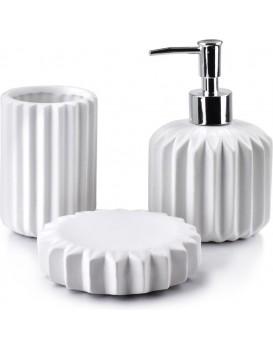 Sada koupelnových doplňků Ferra bílá