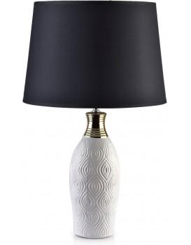 Noční lampa Luna černá/bílá