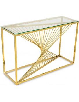 Konzolový stolík LAINE zlatý