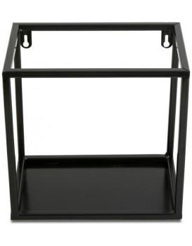 Závěsná police KVADRO 24 cm černá