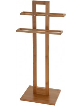 Bambusový vešiak na uteráky 85 cm hnedý