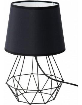 Stolní lampa Diamond se stínidlem 2v1- ČERNÁ