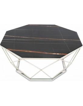 Konferenčný stolík VOLARE 100 cm čierny/strieborný