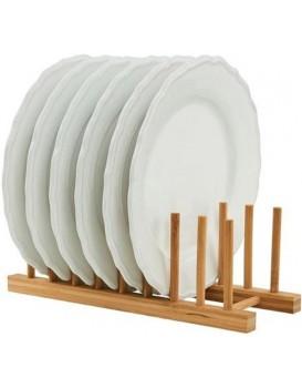 Stojan na taniere, bambusový organizér