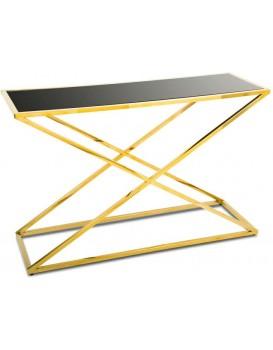 Konzolový stôl Saliba zlato-čierny