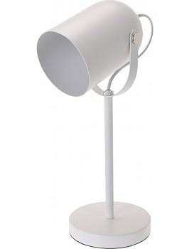 Kovová kancelářská stolní lampa 43,5 cm - bílá