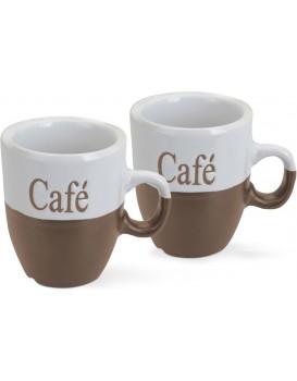Sada dvou kávových šálků