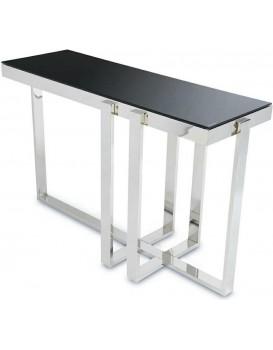 Konzolový stôl SEMINÁR SILVER BLACK
