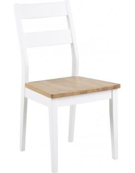 Jídelní židle Derry bílá/dub