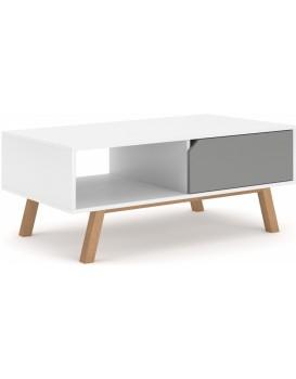 Konferenční stolek Lemi 110 cm bílý/šedý