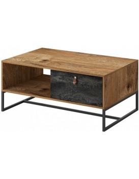 Konferenční stolek Dark 104 cm dub ribbeck/černý kámen