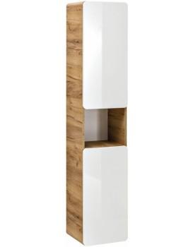Koupelnová skříňka ARUBA 170x35x32 cm bílá/dub zlatý