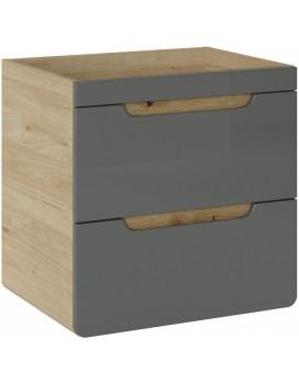 Umyvadlová skříňka ARUBA 60 cm dub/šedá lesklá