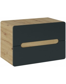 Umyvadlová skříňka ARUBA 53x80x46 cm dub artisan/černá