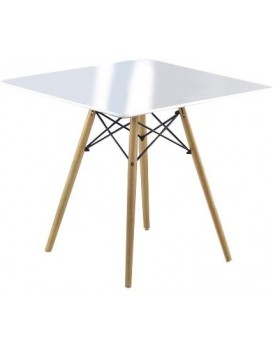 Jídelní stůl Prometheus 80x80 cm bílý