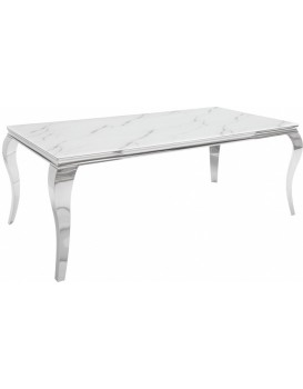 Jídelní stůl Barock 180 cm stříbrný