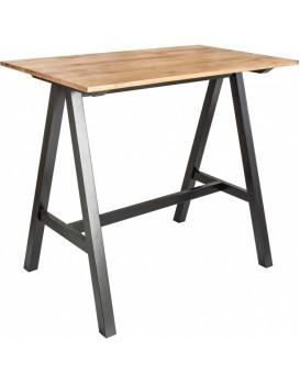 Barový stůl Castle  černý/divoký dub
