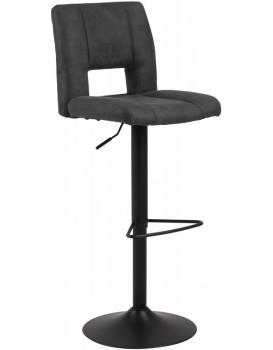 Otočná barová židle Sylvie tmavě šedá/černá