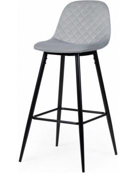 Barová stolička Maya sivá