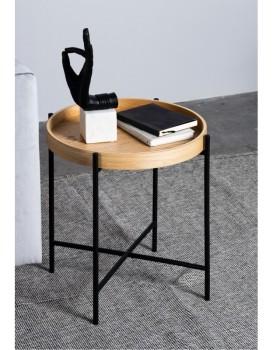 Kulatý konferenční stolek Bergamo dub