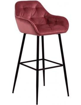 Barová stolička Brooke tmavoružová