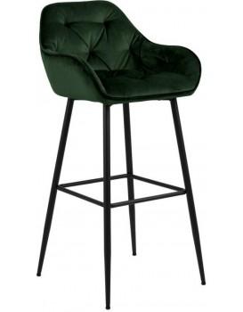 Barová stolička Brooke tmavozelená