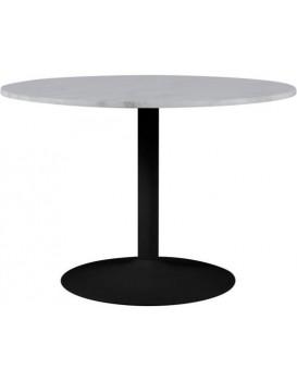 Jedálenský okrúhly stôl Tarifa mramor biely/čierny