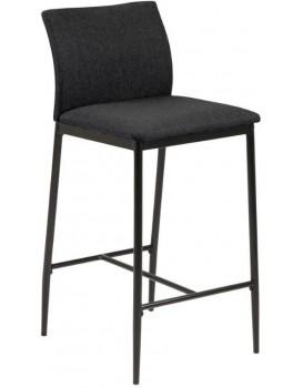 Barová židle Demina šedá/černá