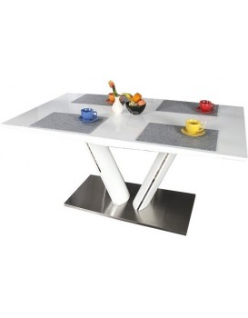 Rozkládací stůl Dako 160-220x90 cm bílý