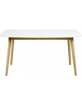 Jídelní dřevěný stůl Nagano bílý