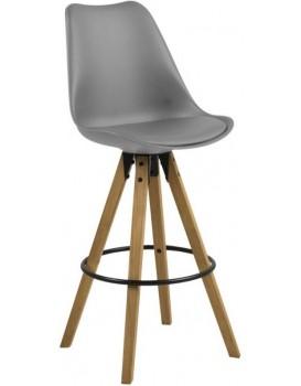 Barová stolička Dema šedá