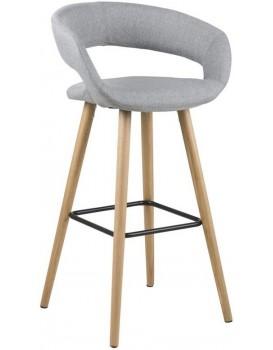 Barová stolička Grace svetlošedá