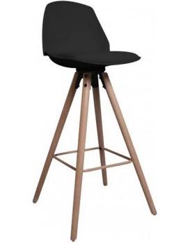 Barová stolička Oslo čierna 2
