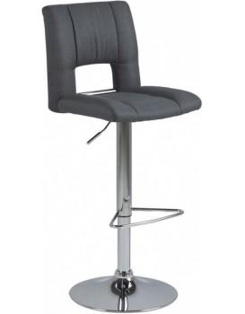 Otočná barová židle Sylvie šedá