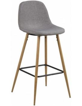 Barová stolička Wilma III svetlosivá/drevo