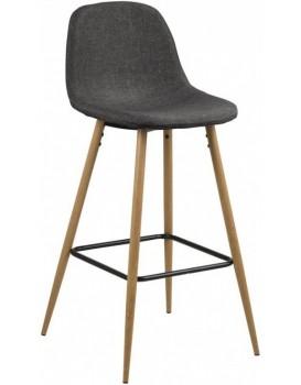Barová stolička Wilma III sivá/drevo