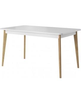Rozkládací stůl Prato 140-180x80 cm bílý