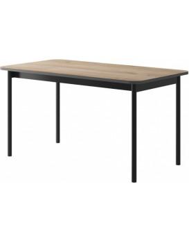 Jídelní stůl Loft 140x80 cm jackson/černý